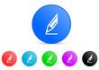 pencil icon vector set