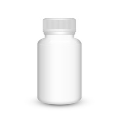 Blank medicine bottle isolated on white background, illustration