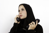 Busy Arab Woman On The Phone