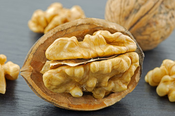 closeup from walnuts