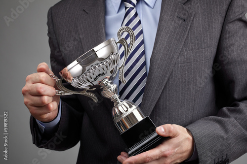 Winning business trophy