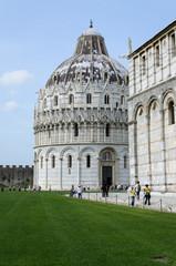 Pisa Baptistery in Piazza dei Miracoli