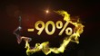 -90% Discount Concept, Gold Numbers in Particles