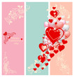 Happy Valentines day card with trendy elegant type