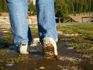 mud walking man