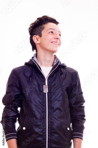 Portrait of smiling cute boy