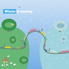 winter is coming, vector illustration