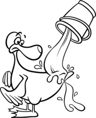 water off a ducks back coloring page