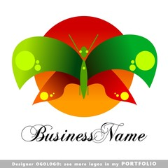 insect, butterfly, mosquito, bee, wasp, logo emblem vector