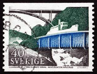Postage stamp Sweden 1968 Dalsland Canal