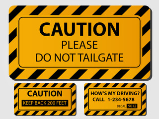 Caution Truck Signs