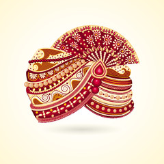 vector illustration of colorful Indian turban for marriage