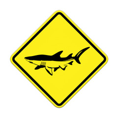 Shark sighting sign, Beach Closed