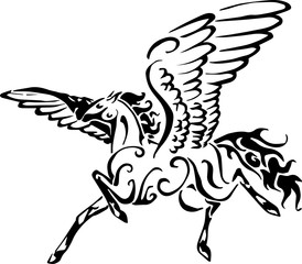 horse fly tribal art