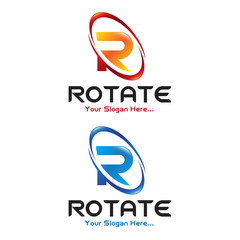 Rotate Letter R Logo