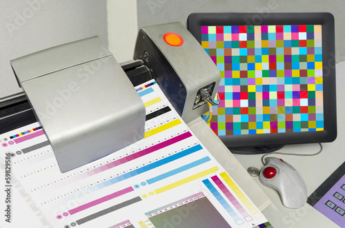 Pringing Press color management control. cmyk stripe