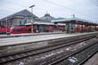 Leinwandbild Motiv Central railway station in Nuremberg, Germany.