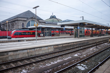 Central railway station in Nuremberg, Germany.