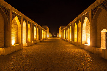 Khajoo bridge in Esfahan, Iran