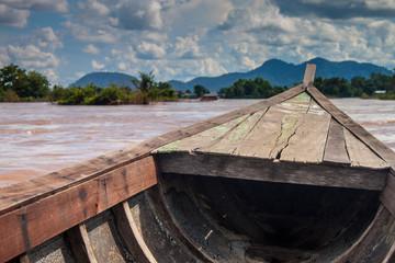 Boat ferry on Mekong, Laos