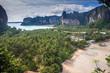 limestone landscape at Railay, Krabi province, Thailand