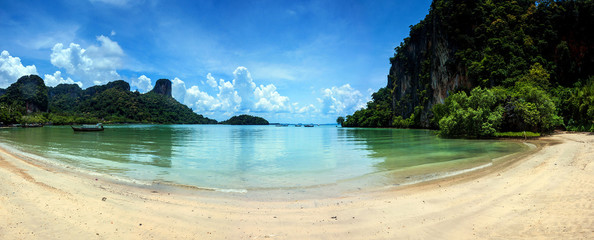 Beach and limestone landscape at Railay, Thailand