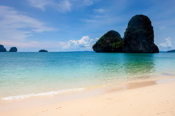 Beatiful beach and limestone landscape at Railay, Thailand