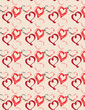 Love hearts,seamless pattern