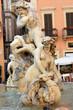 Leinwanddruck Bild - Rome, Piazza Navona, Fountain of Neptune