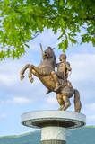 Statue of Alexander the Great in Skopje, Macedonia poster