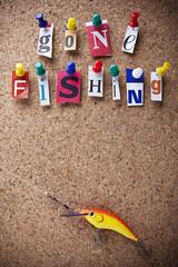 Message gonne fishin