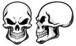 cartoon skulls - 59832560