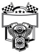 motorbike club badge