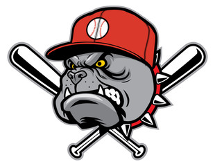 bulldog as a baseball mascot