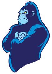crossed arm gorilla