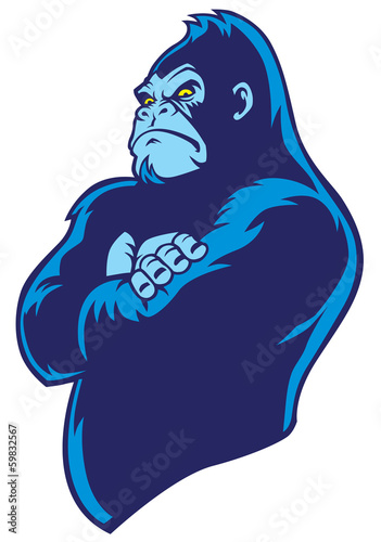 crossed arm gorilla