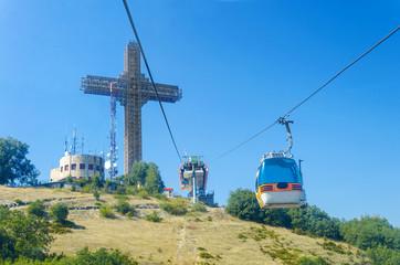 Millenium Cross on a top of the Vodno, Skopje