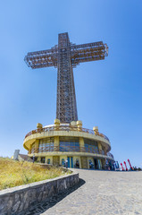 Millenium Cross on Vodno mountain above Skopje, Macedonia