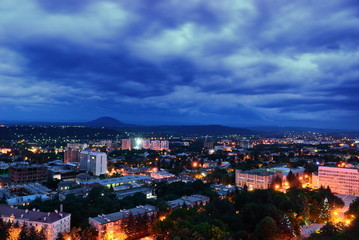 Russia. Pyatigorsk. Evening cityscape