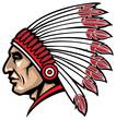 american native chief head