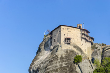 Famous Meteora monasteries in Greece. UNESCO