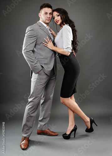 Boss and secretary couple