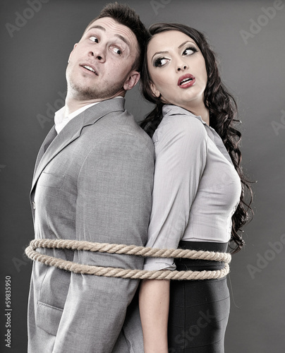 Couple tied with a rope