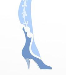 scarpa azzurra