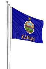 3D Kansas Flag