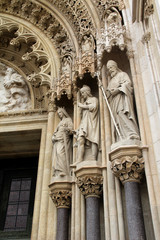 Detail of the portal, Zagreb Cathedral, Croatia