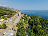 View from unmanned quadrocopter of Vorontsov Palace poster
