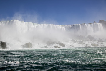 Niagara fall and river.