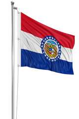 3D Missouri Flag