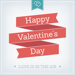 Valentine's Day Card, Typographical Background